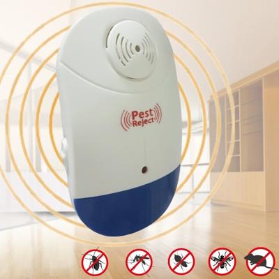 【Bunny】新智能全方位LED超音波驅蚊蟲器驅鼠器(三入) (4.8折)