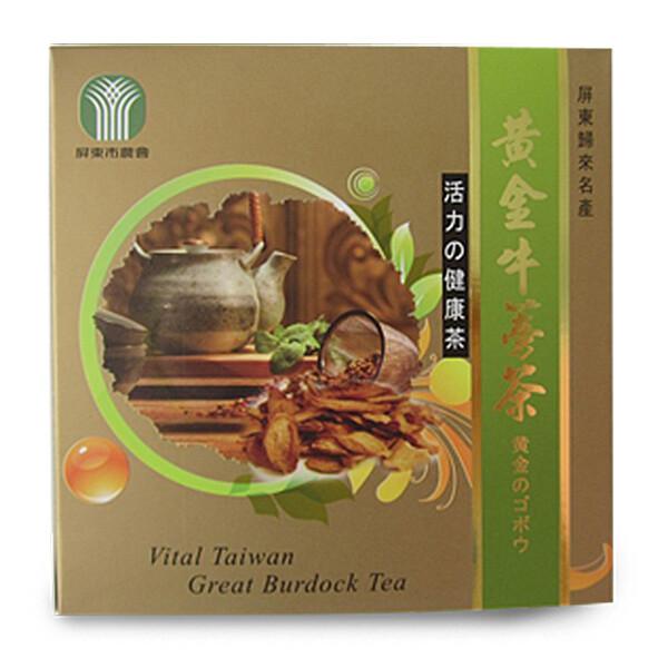 屏東市農會 黃金牛蒡茶-45g/盒 [免運]