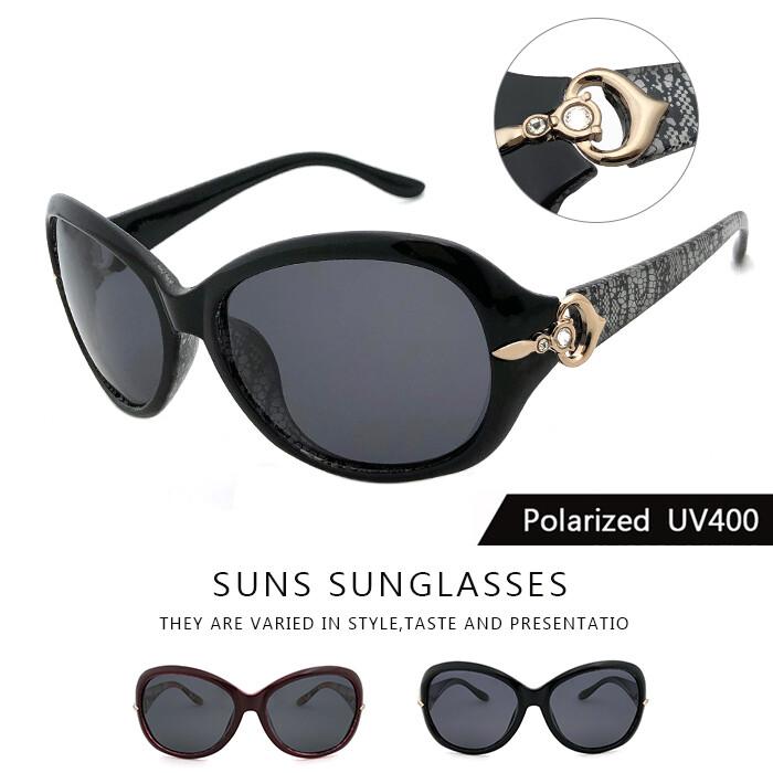 淑女polaroid偏光墨鏡 簡約浪漫風格 精緻時尚設計顯小臉太陽眼鏡 抗uv400