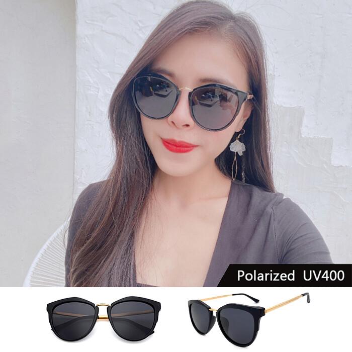 時尚歐美偏光墨鏡 名媛款太陽眼鏡 防眩光反光 太陽眼鏡  抗紫外線uv400