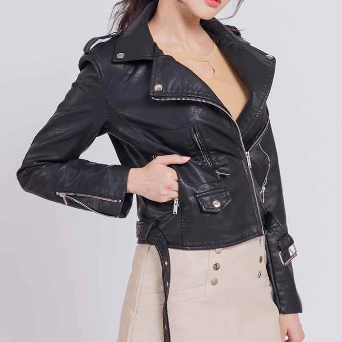 正韓皮外套 阿拉佛拉皮外套 保證正韓 黑白兩色 秋冬流行皮外套 韓國空運