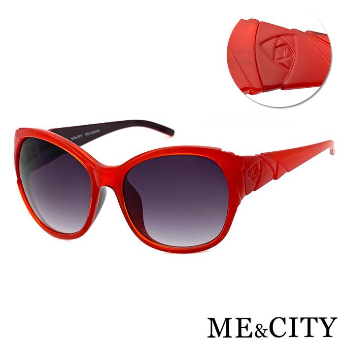 me&city 古典花園玫瑰大框太陽眼鏡 義大利設計款  (me 120032)
