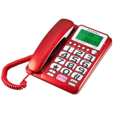 ALCATEL阿爾卡特  T-216  來電去電報號 ‧ 來電顯示有線電話 (8折)
