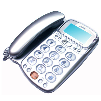 SANYO台灣三洋 TEL-986 增音功能 ‧ 大字鍵來電顯示有線電話 (6.4折)