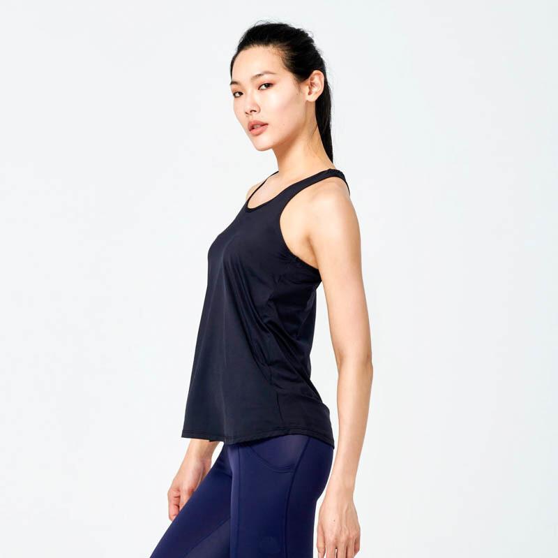 ann rena reyes |零著感運動背心 - 黑運動罩衫.運動上衣.瑜伽
