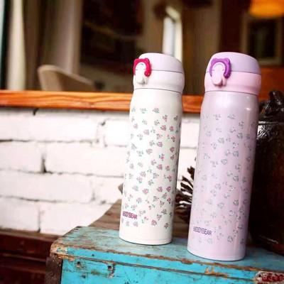 韓國BEDDY BEAR 杯具熊 限量碎花款 304不鏽鋼保溫杯 保溫瓶 悶燒杯(480ML) (7.2折)