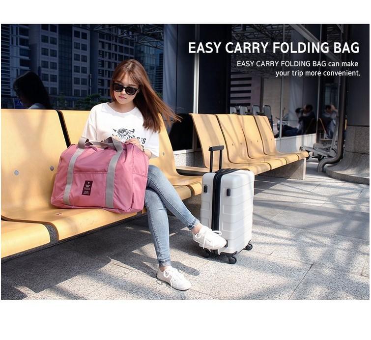 統頂韓版 多功能折疊旅行收納袋 手提袋 單肩旅行袋 拉桿包