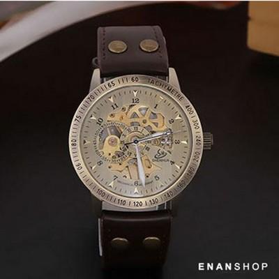 winner 復古簍空機械錶 手錶 皮革錶帶 女錶 男錶 情侶對錶 惡南宅急店0544f (10折)