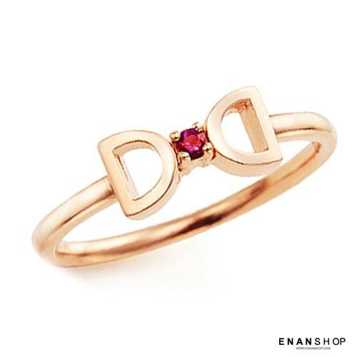 蝴蝶結水鑽戒指 來自星星的你 全智賢同款 韓國氣質 戒指南宅急店0323c