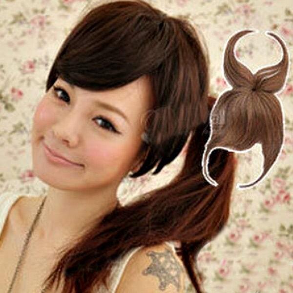 遮蓋頭頂瀏海 斜瀏海髮片 蓋頂式瀏海 假髮 p018