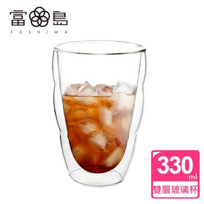 【FUSHIMA 富島】造型系列雙層耐熱雲朵玻璃杯330ML (2.4折)
