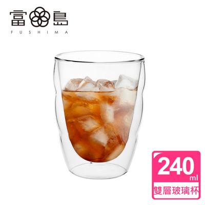 【FUSHIMA 富島】造型系列雙層耐熱雲朵玻璃杯240ML (2.3折)