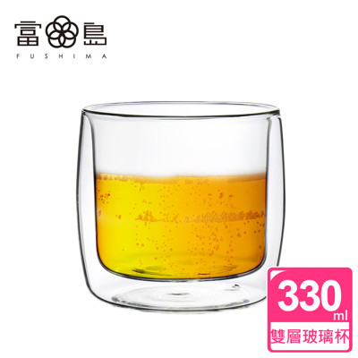 【FUSHIMA 富島】英倫系列雙層耐熱玻璃杯330ML (2.4折)