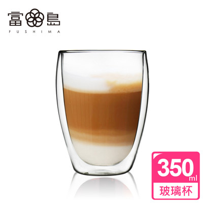 【日本FUSHIMA富島】雙層耐熱玻璃杯350ML (2.4折)