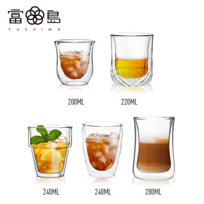 【FUSHIMA 富島】夏日小資雙層耐熱玻璃杯(5款任選) (2.2折)