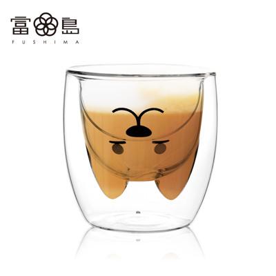 【FUSHIMA 富島】2018年度限定-雙層耐熱玻璃杯旺福款200ML (2.4折)