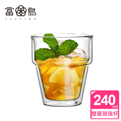 【FUSHIMA 富島】疊疊系列雙層耐熱玻璃杯240ML (2.3折)