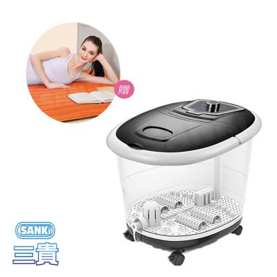 買一送一 日本SANKi 好福氣加熱SPA足浴機 +獨立氣泡發熱墊 雙人 (6.3折)