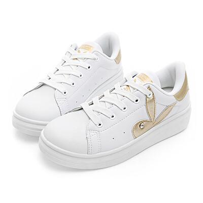 【PLAYBOY】簡約仿皮綁帶休閒鞋-Y5220白金 (5.2折)