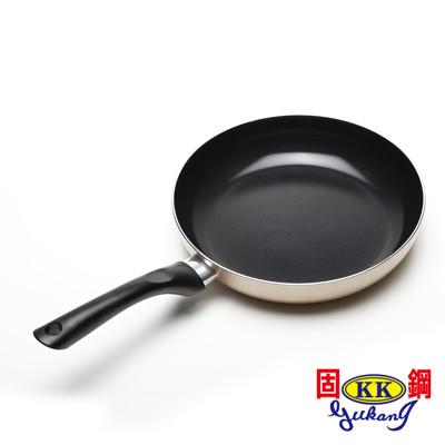 【固鋼】黃金陶瓷不沾平煎鍋26cm (3.4折)
