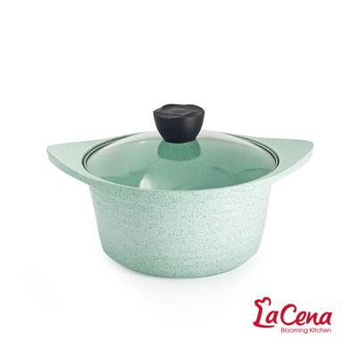 【韓國LaCena】翡翠陶瓷不沾湯鍋22cm(附蓋) (9.4折)