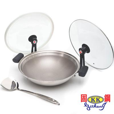 【固鋼】專利節能雙蓋氣密不鏽鋼不沾鍋32cm (1.4折)