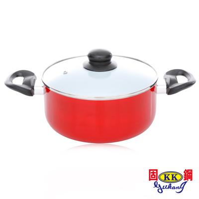 【固鋼】紅色法拉利白陶瓷湯鍋20cm (3折)
