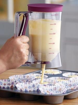 嚴選SHOP麵糊分配器 麵糊器 麵糊充填器 分液器 定量器紙杯蛋糕 雞蛋糕 可麗餅 車輪餅 給漿器 (5.3折)