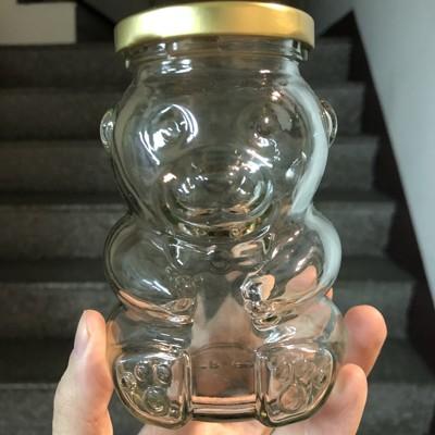 【嚴選SHOP】265cc 小熊造型玻璃瓶 附金蓋 奶酪布丁杯 果醬瓶 布蕾杯 婚禮小物 蜂蜜瓶 玻 (0.7折)