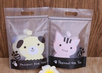 【嚴選SHOP】小狗小貓可立提袋 點心袋 餅乾袋 夾鏈袋 牛軋糖袋 糖果袋 手提袋 保鮮袋 (1.4折)