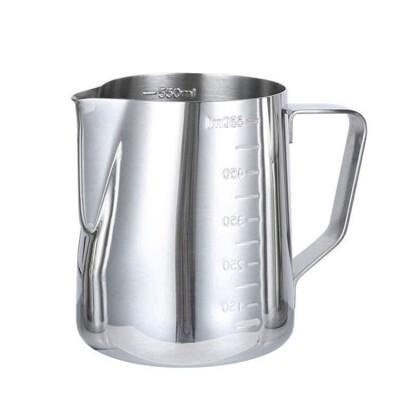 304不鏽鋼刻度拉花杯 350ml600ml 拉花杯 奶泡杯 拉花壺 拉花鋼杯 刻度杯【K100】 (7.4折)