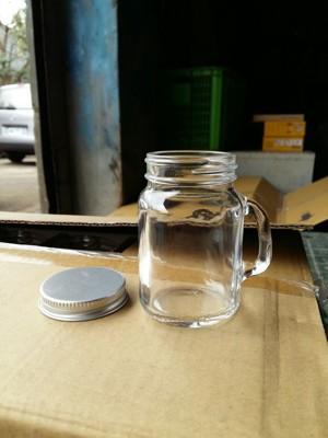 台灣製造 附蓋120cc迷你梅森瓶 把手布丁瓶 奶酪布丁杯 果醬瓶 收納罐 蜂蜜瓶【T034】 (3.6折)