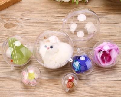 5入一包 壓克力球 吊球 透明球 塑膠球 永生花球 婚禮小物 吊飾球 聖誕球 扭蛋球金莎球L019 (5折)