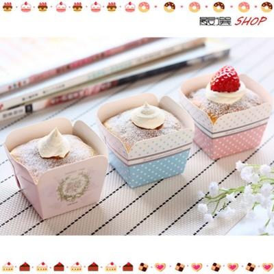 【嚴選SHOP】30入 方形蛋糕盒 戚風蛋糕模 烤盒 西點盒 馬芬盒 聖誕 紙模 杯子蛋糕 烘烤紙杯 (4.7折)
