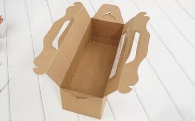 24cm 牛皮開窗 生乳捲蛋糕盒 彌月蛋糕盒 蛋糕捲紙盒 奶凍捲盒 包裝盒 長條蛋糕盒【C025】 (1.1折)