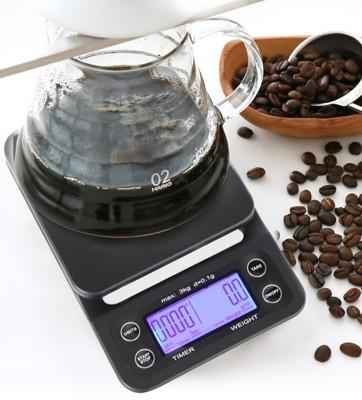 【嚴選SHOP】手沖咖啡專業秤 計時磅秤 咖啡秤 咖啡磅秤 黑咖啡 電子 濾杯 計時電子秤 手沖入門 (3.3折)