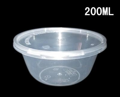 【嚴選SHOP】含蓋 200CC 外帶湯碗 沙拉碗 塑膠碗 醬料杯 調味料碗 外帶盒 打包餐 (1.2折)