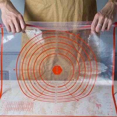 BREADLEAF 60x50cm 透明揉麵墊 鉑金矽膠墊 工作墊 隔熱墊 烘培墊 桿麵墊 料理墊 (6.2折)