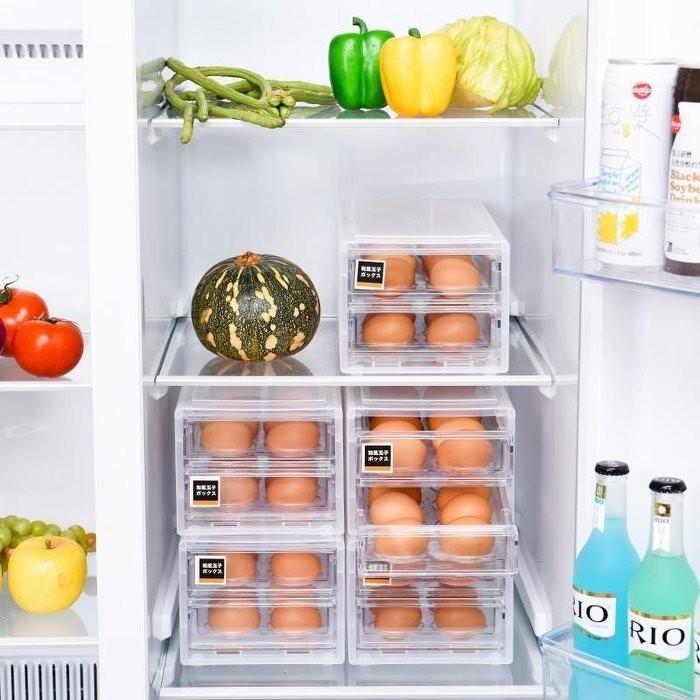 嚴選shop抽屜式雞蛋收納 24格廚房冰箱雞蛋盒 保鮮盒 塑料雞蛋格 廚房收納 食物保鮮盒 雞蛋