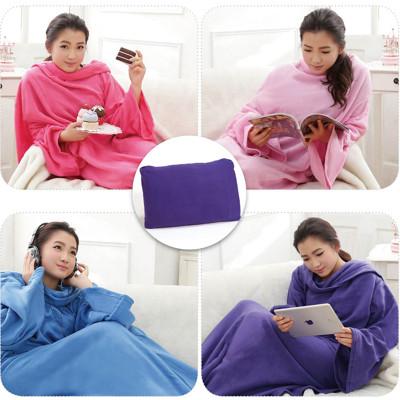 新一代3合1創意多功能袖毯懶人毯TV毯四季毯靠墊毛毯 (4.4折)