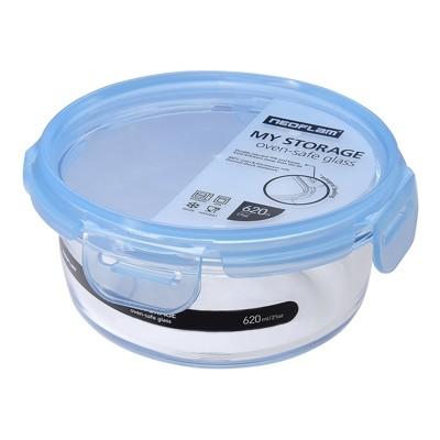 韓國NEOFLAM專利上蓋玻璃保鮮盒-圓型620ml (5.9折)