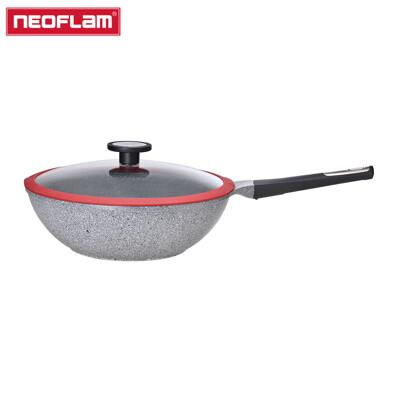 Neoflam POTE系列30cm大理石炒鍋(電磁底)-深灰+玻璃蓋 (6折)
