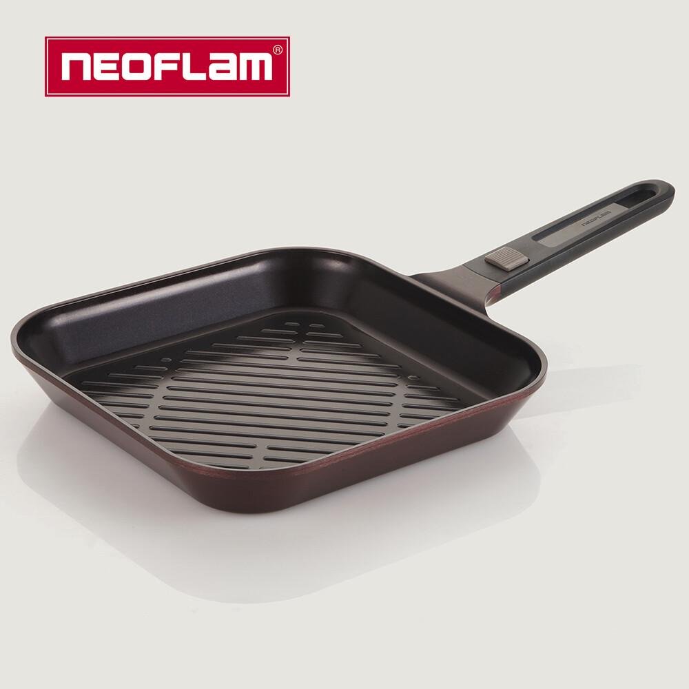 neoflam my pan系列陶瓷不沾方形煎鍋28cm(贈送料理夾)