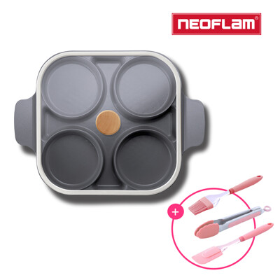NEOFLAM Steam Plus Pan升級版雙耳烹飪神器&玻璃蓋-FIKA(贈烘焙三件組/食譜 (5.6折)