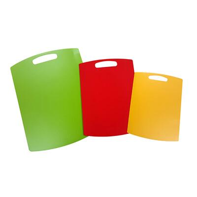 Neoflam Multi系列樂活超薄輕食砧板組-綠(大)+紅或粉紅(中)+黃(小) (5.4折)