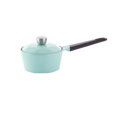 NEOFLAM Carat系列陶瓷不沾單柄湯鍋18cm-Tiffany藍+合金蓋 (6折)