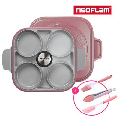 NEOFLAM Steam Plus Pan升級版雙耳烹飪神器&玻璃蓋-丹麥粉(贈烘焙三件組/食譜) (5.6折)