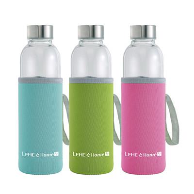 LEHE HOME耐熱玻璃隨手瓶(550ml) (3折)