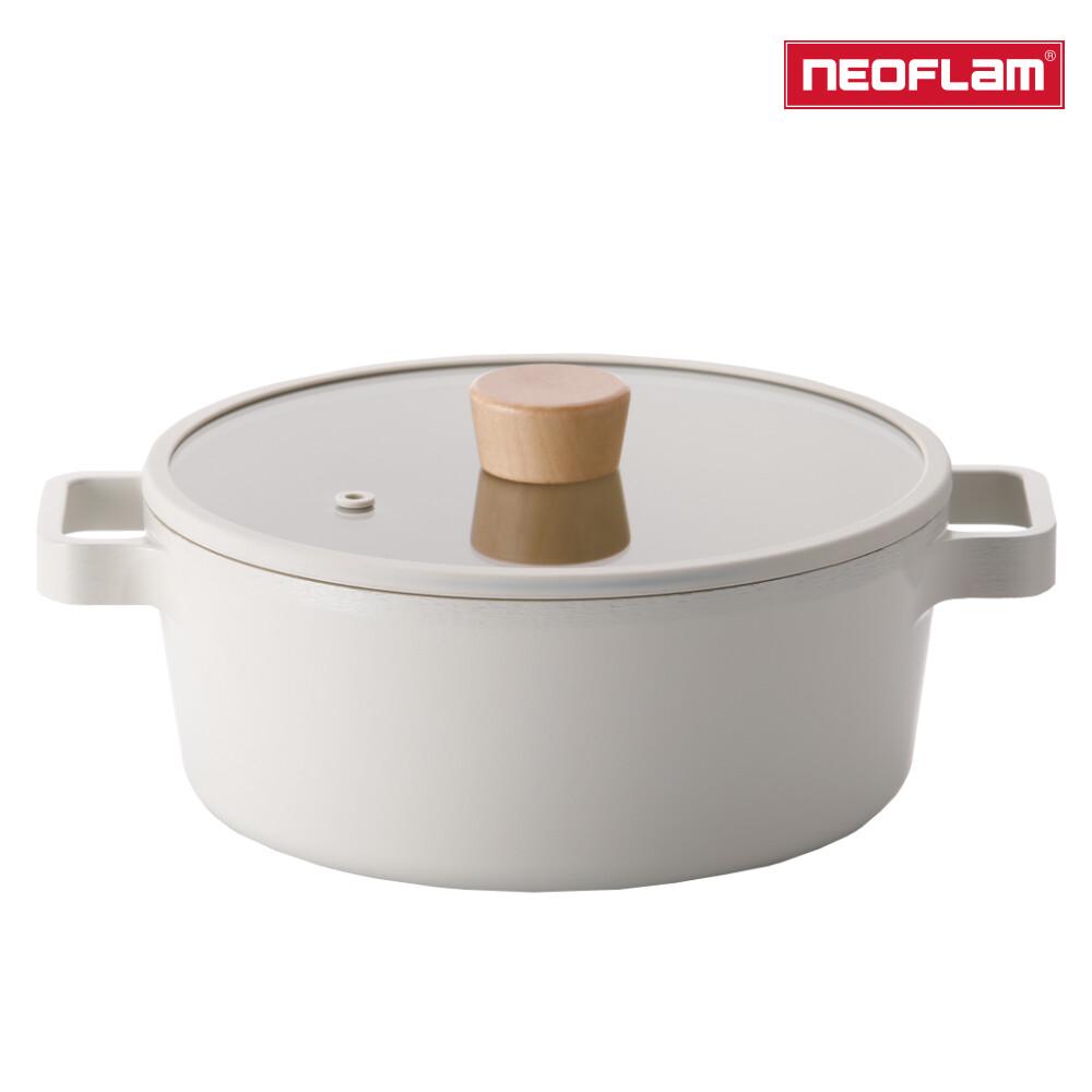 neoflam fika系列 22cm 鑄造不沾雙耳湯鍋(ih電磁爐適用)