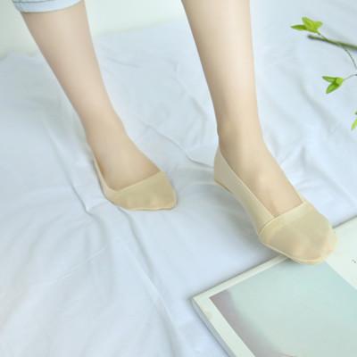 韓版冰絲透氣防滑脫隱形襪 (1.6折)